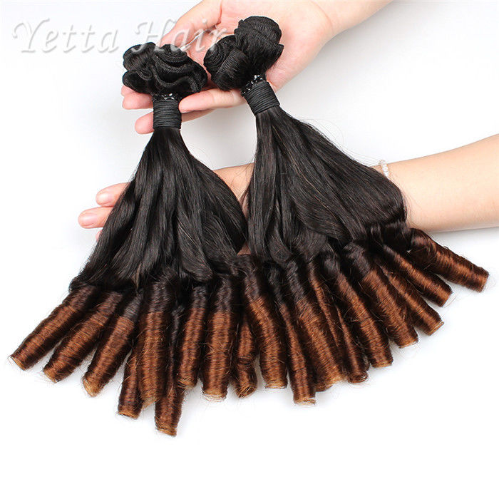 Professional Unprocessed Funmi Virgin Hair 16 Inch Ombre Spiral Curl