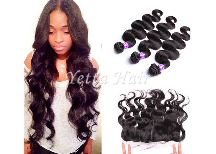 7A Peruvian Lace Top Closure Virgin Body Wave Hair 13'' X 4'' Ear To Ear