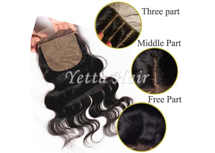 4'' x 4'' Silk Base Lace Top Closure Brazilian Virgin Hair Body Wave