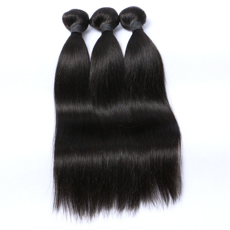 "Raw Straight Malaysian Human Hair Extensions Natural Color 8""-30"""