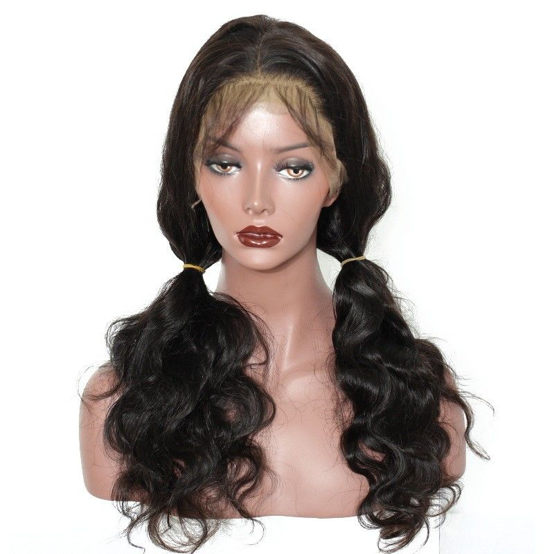 360 Frontal Lace Wig 100% Brazilian Virgin Hair Body Wave Pre - Pucked