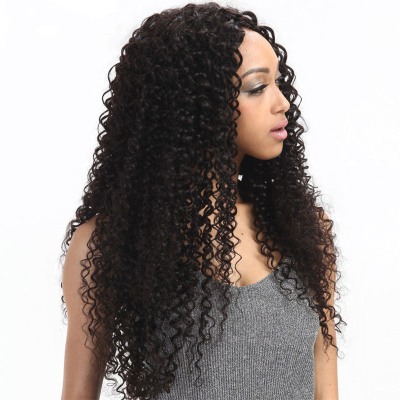 8'' Kinky Curl Middle Part 100% Brazilian Virgin Hair Lace Closure For Ladys