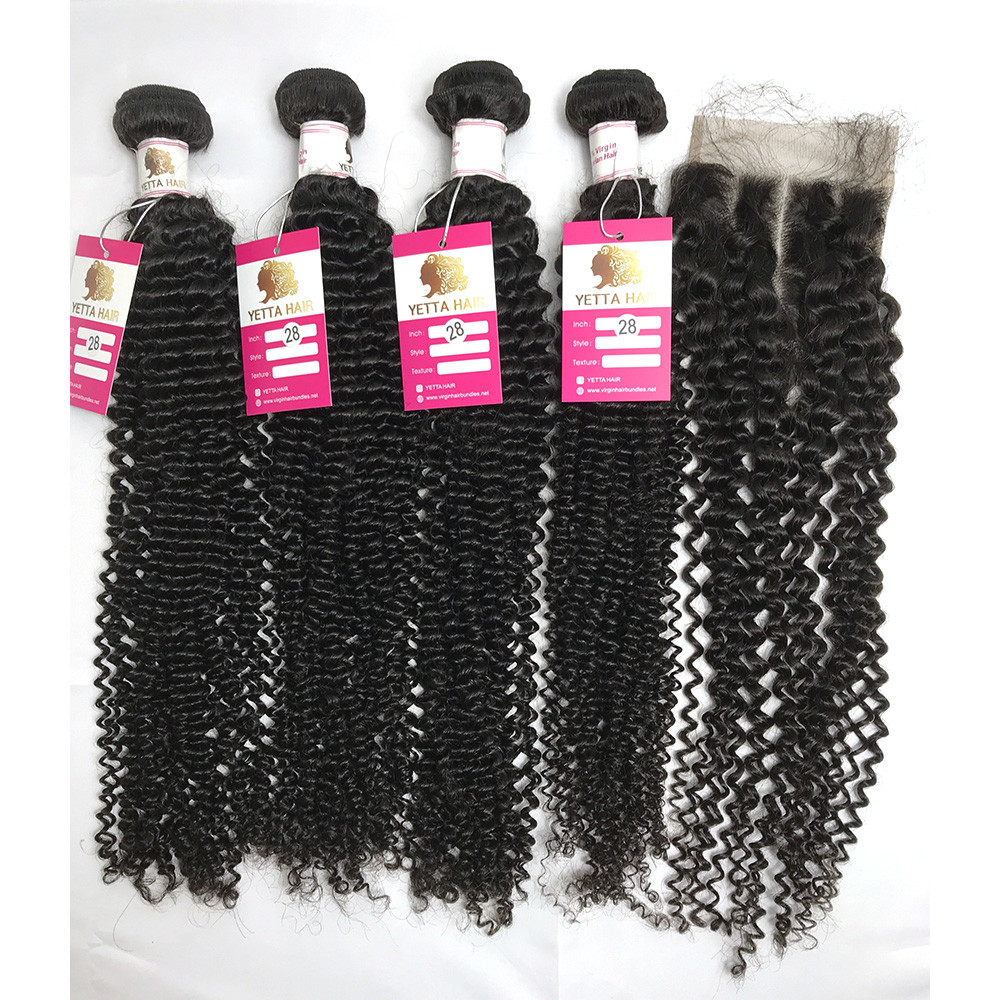 BVKC Curly Human Hair Extensions